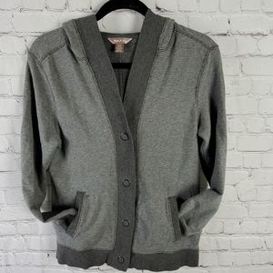 White Stag Gray Small (4-6) Button Cardigan